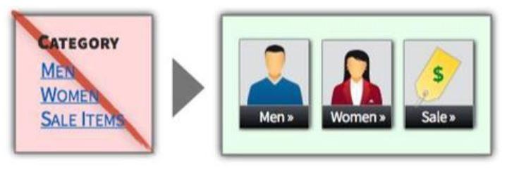 Визуальные элементы на ранних этапах выбора