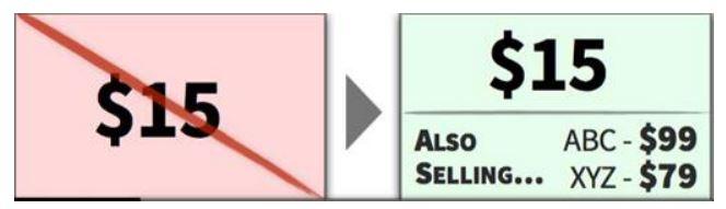 Показывайте более высокие «случайные» цены